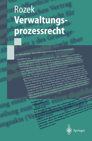 Verwaltungsprozessrecht de Jochen Rozek
