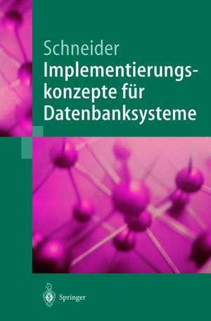 Implementierungskonzepte für Datenbanksysteme de Markus Schneider
