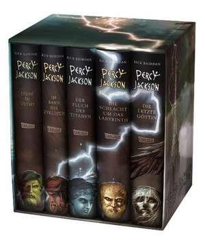 Percy Jackson: Percy-Jackson-Schuber 5 Baende - inkl. E-Book Kane-Chroniken Bd. 1
