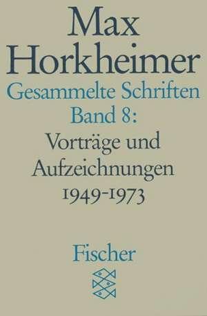 Gesammelte Schriften VIII de Gunzelin Schmid Noerr