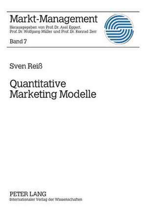 Quantitative Marketing Modelle de Rei, Sven