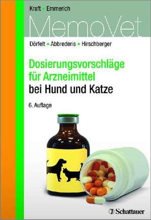 Dosierungsvorschlaege fuer Arzneimittel bei Hund und Katze