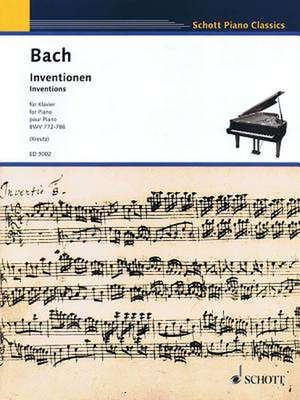 Inventions, Bwv 772-786:  Piano de Johann Sebastian Bach