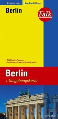 Falk Stadtplan Extra Standardfaltung Berlin mit Cityplan Potsdam n1:26 500-1:43 500