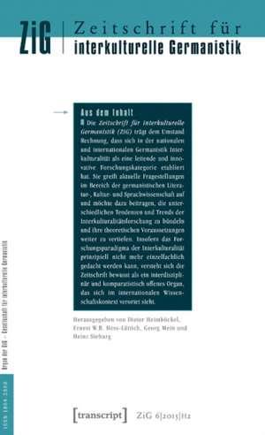 Zeitschrift fr interkulturelle Germanistik