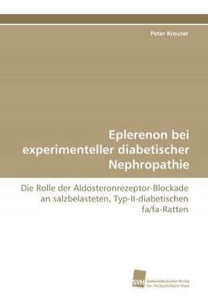 Eplerenon Bei Experimenteller Diabetischer Nephropathie