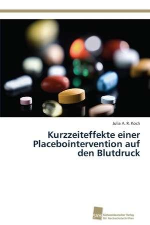 Kurzzeiteffekte einer Placebointervention auf den Blutdruck