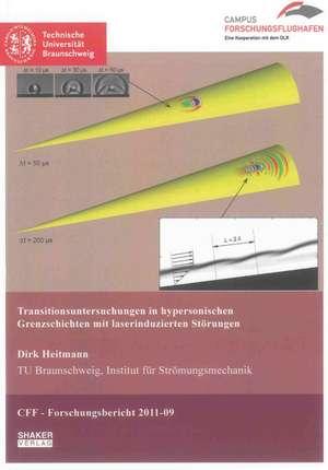 Transitionsuntersuchungen in hypersonischen Grenzschichten mit laserinduzierten Störungen de Dirk Heitmann