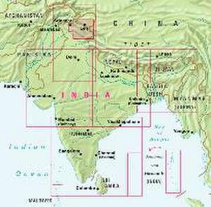 Nelles Map India: Ladakh - Zanskar 1 : 350 000