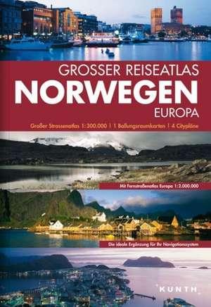 Grosser Reiseatlas Norwegen 1 : 300 000