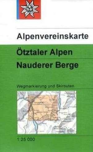 DAV Alpenvereinskarte 30/4 OEtztaler Alpen - Nauderer Berge 1 : 25 000