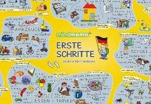 mindmemo Lernposter - Erste Schritte - Deutsch für Einsteiger - Vokabeln lernen mit Bildern - Zusammenfassung de Fischer Henry