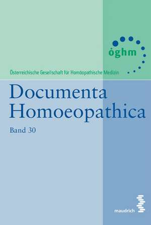 Documenta Homoeopathica 30