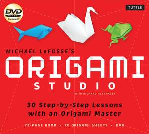 Origami Studio Kit: 30 Step-by-Step Lessons with an Origami Master: Kit with Origami Book, 30 Lessons, 70 Origami Papers and Instructional DVD de Michael G. LaFosse