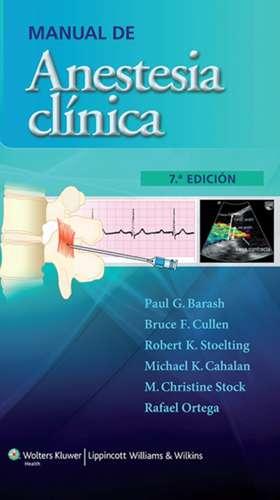Manual de anestesia clínica