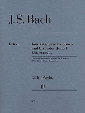 Konzert für 2 Violinen und Orchester d-moll BWV 1043 de Johann Sebastian Bach