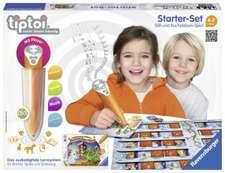 Set tiptoi® cu joc de învățare a literelor. Starter-Set Schatzsuche in der Buchstabenburg