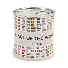 Flags of the world puzzle magnets