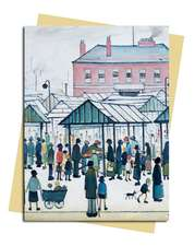 L.S. Lowry: Market Scene Greeting Card: Pack of 6