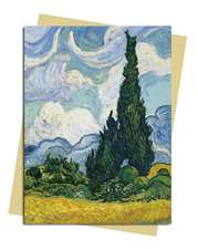 Van Gogh: Wheat Field with Cypresses Greeting Card: Pack of 6