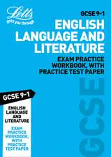 GCSE 9-1 English Language and English Literature Exam Practice Workbook, with Practice Test Paper