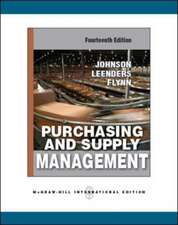 Purchasing and Supply Management (Int'l Ed)