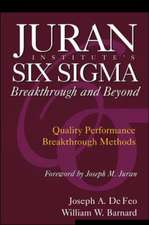 Juran Institute's Six Sigma Breakthrough and Beyond