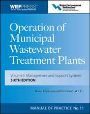 Operation of Municipal Wastewater Treatment Plants