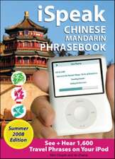 iSpeak Chinese Phrasebook, Summer 2008 Edition