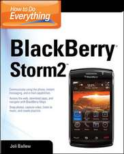 How to Do Everything BlackBerry Storm2