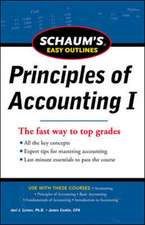 SCHAUM'S EASY OUTLINE OF PRINCIPLES OF ACCOUNTING