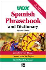 Vox Spanish Phrasebook and Dictionary, 2nd Edition