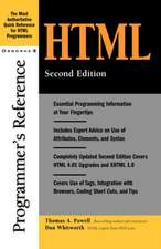 HTML Programmer's Reference, 2nd Edition
