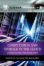 Computation and Storage in the Cloud: Understanding the Trade-Offs