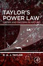 Taylor's Power Law: Order and Pattern in Nature