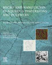 Micro and Nanolignin in Aqueous Dispersions and Polymers
