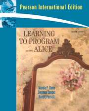 Learning To Program with Alice: International Version