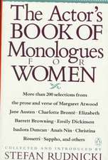 The Actor's Book of Monologues for Women