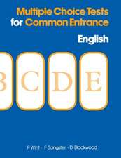 Multiple Choice Tests for Common Entrance - English