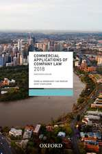 Commercial Applications of Company Law 2018
