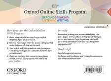 Oxford Online Skills Program: B1+,: General English Bundle 1 - Card with Access Code