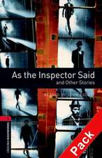 Oxford Bookworms Library: Level 3:: As the Inspector Said and Other Stories audio CD pack