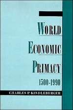 World Economic Primacy: 1500 to 1990