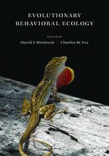 Evolutionary Behavioral Ecology