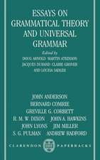 Essays on Grammatical Theory and Universal Grammar