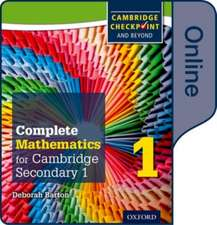 Complete Mathematics for Cambridge Lower Secondary Book 1: Online Student Book