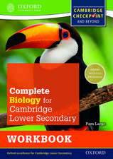 Complete Biology for Cambridge Lower Secondary Workbook: For Cambridge Checkpoint and beyond