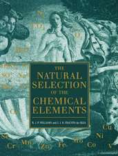 The Natural Selection of the Chemical Elements: The Environment and Life's Chemistry