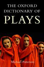 The Oxford Dictionary of Plays