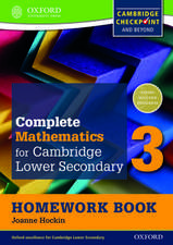 Complete Mathematics for Cambridge Lower Secondary Homework Book 3 (First Edition) - Pack of 15